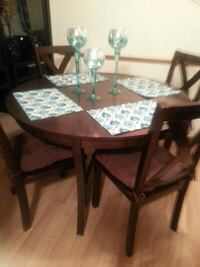brown wooden dining table set Minneapolis, 55420