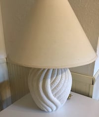 "Off White Coral Design Table Lamp 25.5""h with Shade Floridian Design 150 Watt  great condition, works well 11""diameter at widest 18""h to base of bulb, 150 Watt Lightbulb or less Schnecksville, 18078"