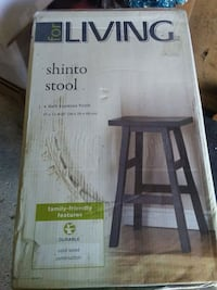 Solid wood shinto stool in box. Mississauga, L5L