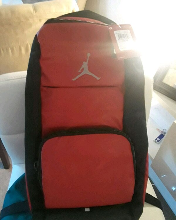 Used red and black Air Jordan backpack for sale in Hollister - letgo