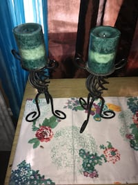 two black metal candle holders McAllen, 78501