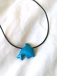 Blue Stone dolphin necklace Toronto, M2R 3W5