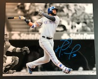 NOMAR MAZARA Texas Rangers Signed 8x10 Photo Trophy Club, 76262