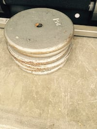 25 lb steel weight plates