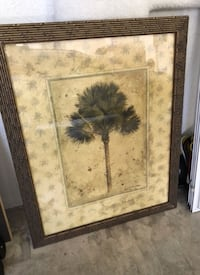 Framed palm tree picture / home decor Wellington, 33449