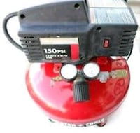 red and black 150 PSI air compressor