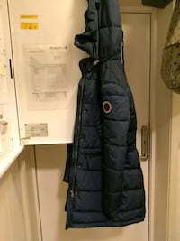svart zip-up boble jakke 6093 km