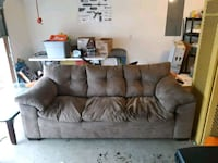 brown suede 3-seat sofa Fayetteville, 28304