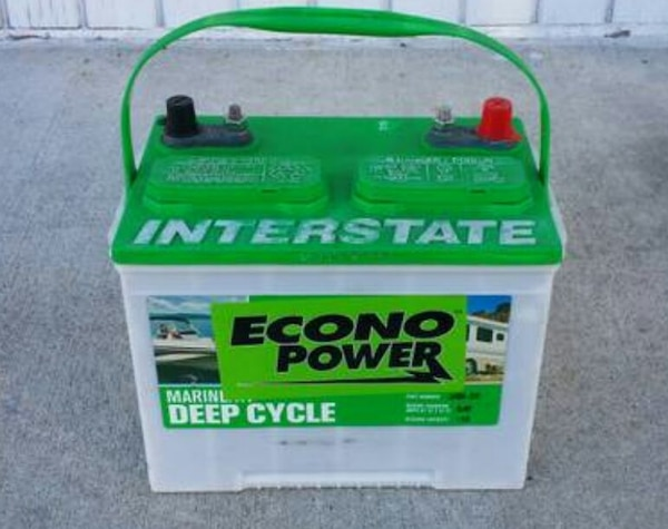 Interstate Deep Cycle Marine Battery >> Used Interstate Econo Power Deep Cycle Marine Battery For Sale In