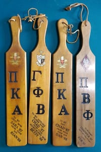 Buying all 4 Vintage Indiana University Delta and Beta Paddles