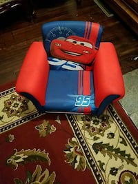 red and blue leather padded rolling armchair Philadelphia, 19140