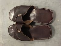 Authenthic Handmade/Handstitch Mexican Made Slip on Leather Sandals - fits men's size 8.5-10.5 Surrey, V3T 2W1