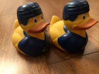 Pair of Vancouver Canucks Rubber Ducks Toronto
