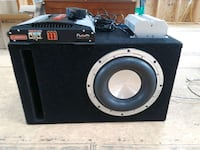 "10"" subwoofer. 2400 watt amp and 3 farad capacitor Elizabethtown, 17022"