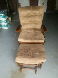 brown wooden framed brown padded glider chair Houston, 77067
