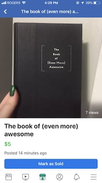 The book of even more awesome  London, N5Y 3E4