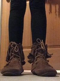 pair of black suede boots Nanaimo, V9R 3V2