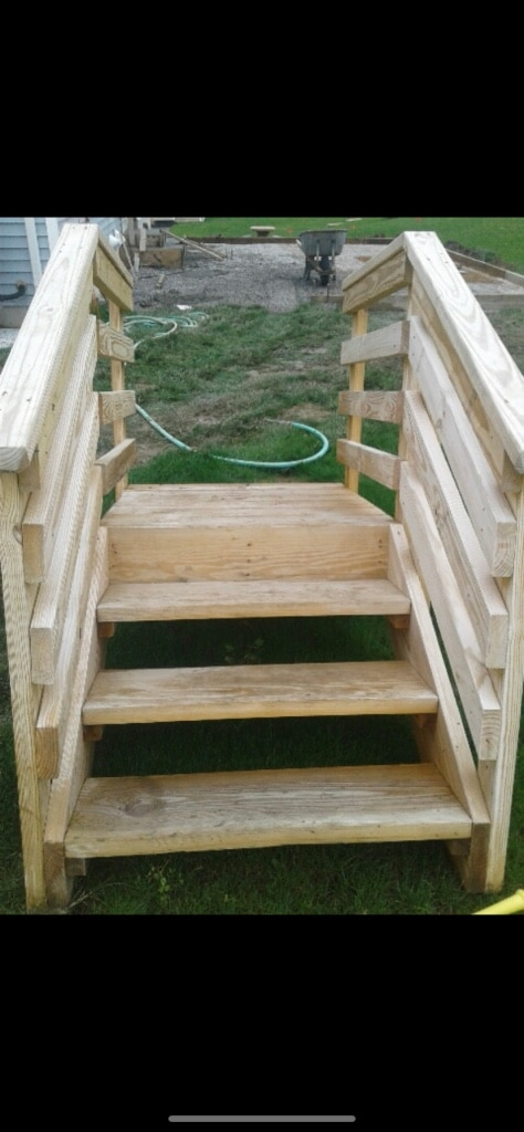 Stairs For A Deck 3 Foot Platform On Top 100 Bucks Obo