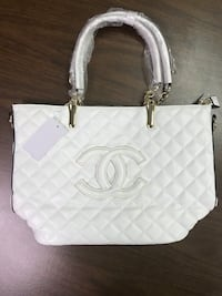 White leather Chanel  quilted tote bag Upper Marlboro, 20774