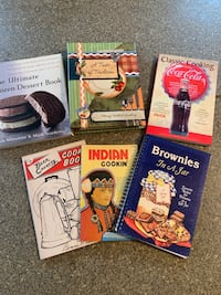 Set of 6 misc. cookbooks. Great condition. $5.00 for all.