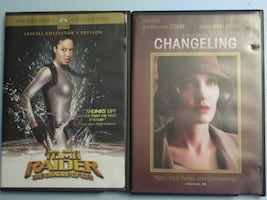 Changeling / Tomb Raider The Cradle of Life - Angelina Jolie DVD's