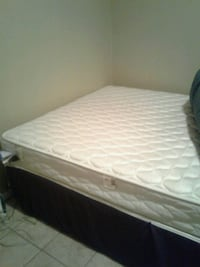 white mattress with white wooden bed frame Killeen, 76543