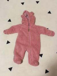 Carters Sherpa Hooded Snow Suit - 3 months