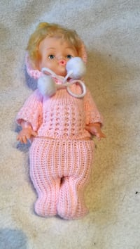 baby doll in pink knitted footie pajama Montreal, H3W 2E7