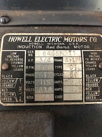 Antique Howell Electric Motors Co. Sander Alexandria, 22309