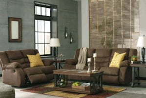Brand New✔Chocolate Color Recliner Sofa & Loveseat✔39$ Down