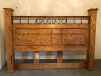 Solid Oak King headboard,footboard and frame. Sterling Heights, 48313