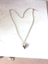 Long heart necklace by D'orlan. Toronto, M9R 3E3