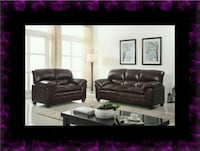 Burgundy sofa and loveseat McLean