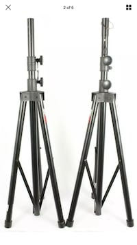 ProLine LST2BK Tripod Speaker Stand Pair w/ Westwood carry bag