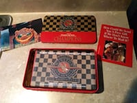 red and black chess board game set Enola, 17025