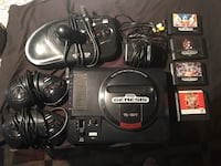 SEGA GENESIS CONSOLE WITH 4 GAMES