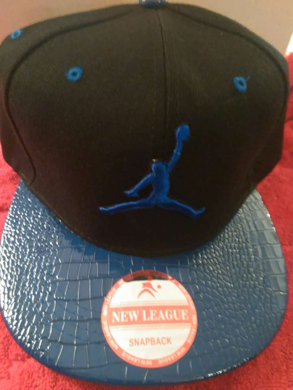 01ba43d6fadccd Used black and blue Air Jordan Snapback cap for sale in York - letgo