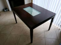 "Kitchen table with glass center 48""×36"". Standard  Tempe, 85281"