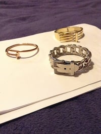 gold Pandora nail bangle bracelet with silver and gold bracelets Mount Pearl, A1N 1V7