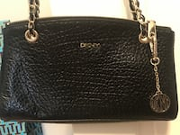 Black DKNY  leather tote bag Clive, 50325