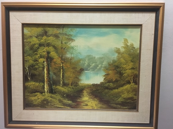 Framed painting- oil on canvas