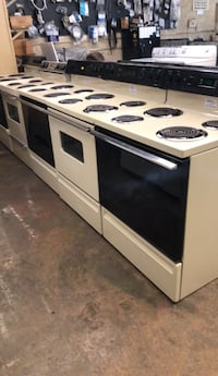 white and black electric coil range oven High Point, 27260