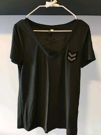 Small Charcoal V Neck Tee 3151 km
