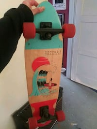 green and red skateboard deck 2369 mi