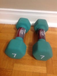 Neoprene Hex Dumbbell Weights 2 x 7 lb Fitness Strength Training Bolton, L7E 1X7