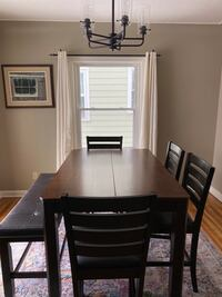 Counter Height Wood Dining Table