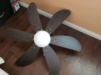 black 5-bladed ceiling fan Mississauga, L5N 3V8