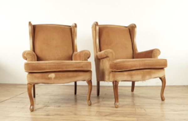 French Provincial Chair >> Used Pair Of French Provincial Style Wing Chairs 1015818 For Sale