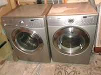two gray front-load clothes washer and dryer set Edmonton, T5G 1P9