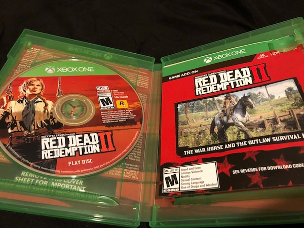 used red dead redemption 2 xbox one